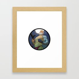 Cable Framed Art Print