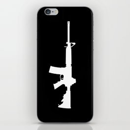 AR-15 (on black) iPhone Skin