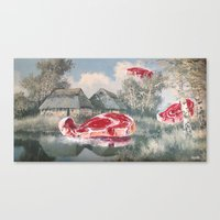 thegnarledbranch Canvas Prints featuring Meat Migration by TheGnarledBranch