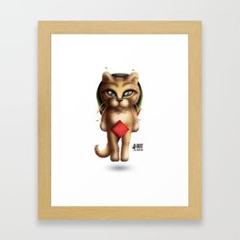 Rastaman Cat Framed Art Print