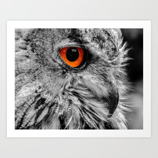 ORANGE OF MY EYE Art Print