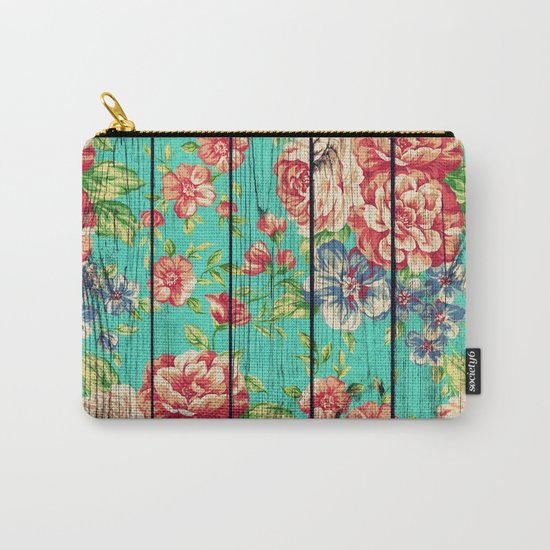 Flowers on Wood 06 Carry-All Pouch