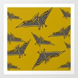 Pterosauria mustard Art Print