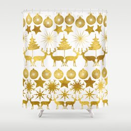 Gold Christmas 04 Shower Curtain