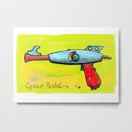 Space Pistol Metal Print