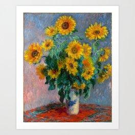 Bouquet of Sunflowers - Claude Monet Art Print