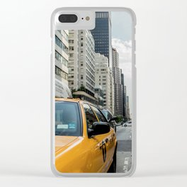Iconic New York City Yellow Taxi Cabs Clear iPhone Case