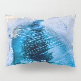 The crack of Baikal ice Pillow Sham
