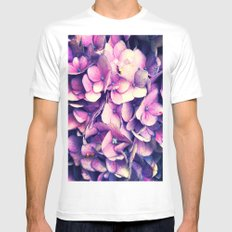 Purple 2X-LARGE Mens Fitted Tee White