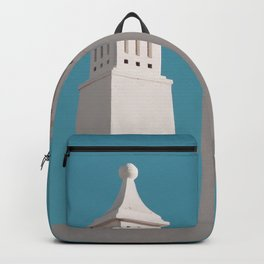 Minimalist Photography Portugal Minerit White Towers Blue Background Scadenvien Style Backpack