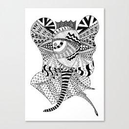 Elephant Butterfly Canvas Print