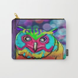 Vibrant Owl Carry-All Pouch