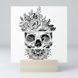 Flower Skull Mandala Mini Art Print