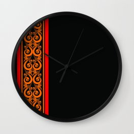 Maldivian Lacquer Wall Clock