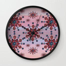 Old Rose Sherpa Blue Wall Clock