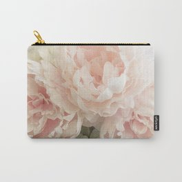 Shabby Chic Cottage Pastel Pink Peony Prints and Peony Home Decor Carry-All Pouch