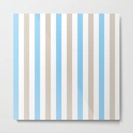 Blue and beige stripes Metal Print