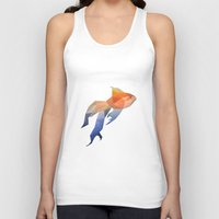 low poly Tank Tops featuring Low Poly Fantail Goldfish  by The animals moved to - society6.com/dian