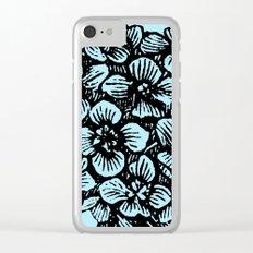 Blue Hydrangea Clear iPhone Case