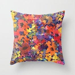 Late Summer Garden Throw Pillow