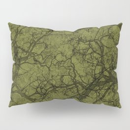 Olive Green Hunting Camo Pattern Pillow Sham