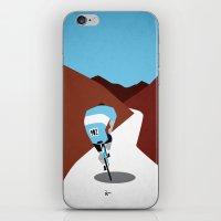 cycling iPhone & iPod Skins featuring Cycling by Osvaldo Casanova