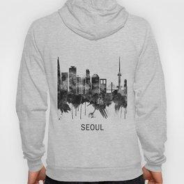 Seoul South Korea Skyline BW Hoody