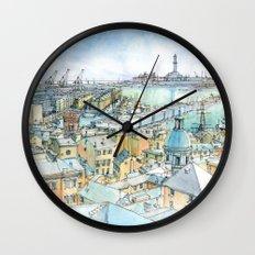 Il Porto (view of Genoa) Wall Clock