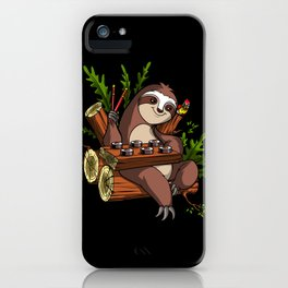 Lazy Sloth Sushi Lover Animal iPhone Case