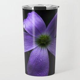 Purple Shamrock Travel Mug
