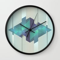 gem Wall Clocks featuring Gem Abstract by Alyn Spiller