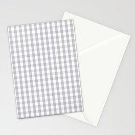 Grey Harbour Mist Gingham Tartan 2018 London Fashion Color Stationery Cards