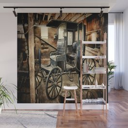 Vintage Horse Drawn Carriage Wall Mural
