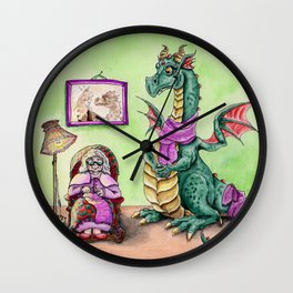 Granny's Dragon Wall Clock