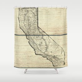 Vintage Map of California Shower Curtain