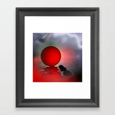 just red - square format Framed Art Print