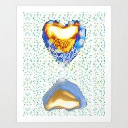 Tiger Heart Digital Collage Art Print