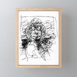 Face The Man On The Bus Framed Mini Art Print