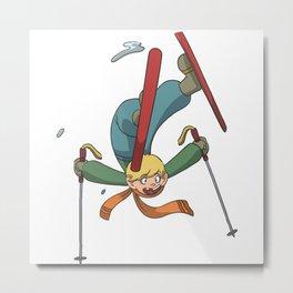 Ski Freestyle Funpark Metal Print