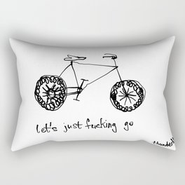 let's just fucking go Rectangular Pillow