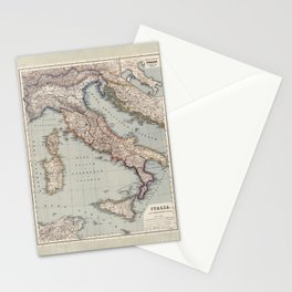 Bella Italia Vintage Map Of Italy Stationery Cards