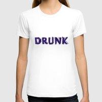 hemingway T-shirts featuring Write Drunk Edit Sober by marianadegogo