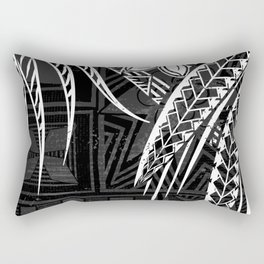 Vintage Samoan Tapa print Rectangular Pillow