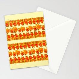 SPRING GOLDEN DAFFODILS MODERN ART DESIGN Stationery Cards
