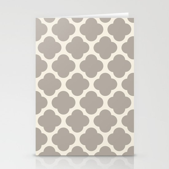 gray clover Stationery Cards