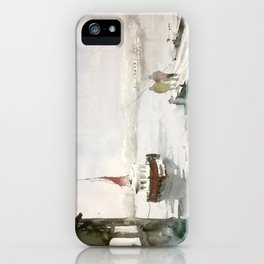 Fishing in Istanbul iPhone Case