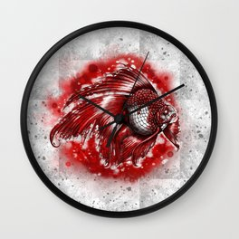 Flagged goldfish Wall Clock