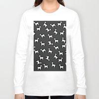 lama Long Sleeve T-shirts featuring LAMA by Monika Strigel