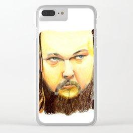 """WWE Superstar Bray Wyatt """"Golden Bray"""" Clear iPhone Case"""