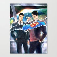 heroes Canvas Prints featuring Heroes by Hai-ning